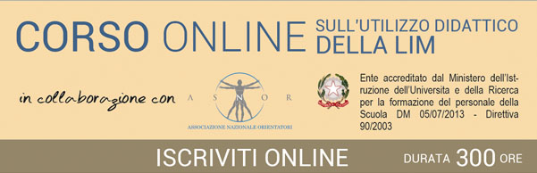Corso online sull'uso didattico delle LIM