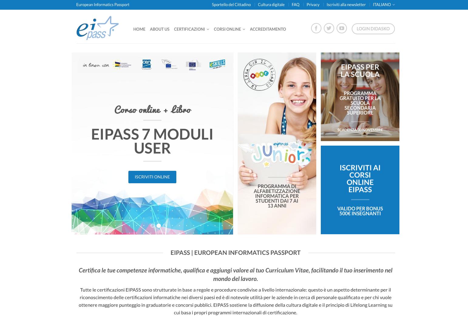Certificazione Informatica Europea